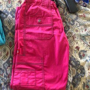 Pink dickies scrub pants